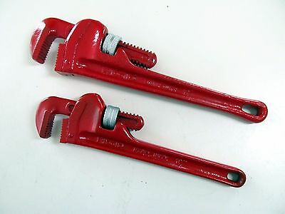 Vintage Pair Ridgid Pipe Wrenches 10 Inch and 12 Inch