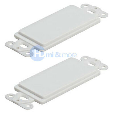 2x 1 Pack Lot Single 1 Gang Wall Plate Blank Insert Cover Decora White