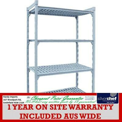 Fed Commercial Four Tier Shelving Kit Cool Room Pe Coated Steel Shelves Psu18/72