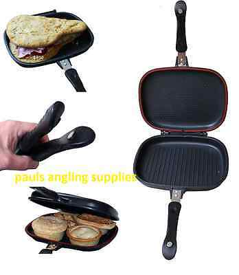 Deep Fill Double Toaster + Cooker pan Carp Pike Fishing For bivvy Camping etc