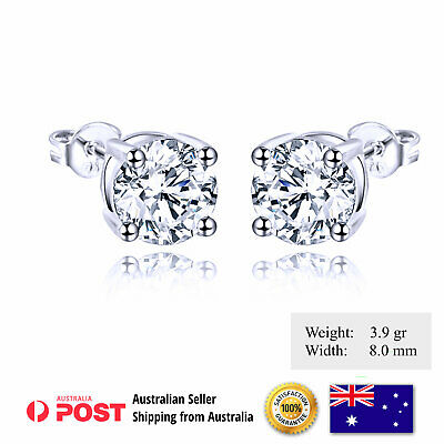998 Genuine Real 18K Yellow G/f Gold Diamond Simulated Unisex Mens Stud Earrings