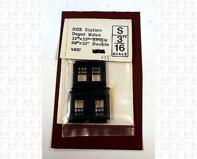Grandt Line S Parts: RGS Station 32x52 and 60x52 Depot Windows 4037