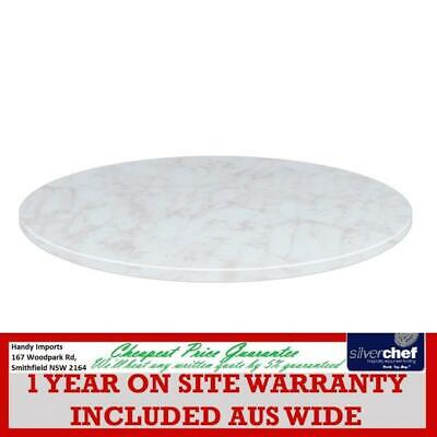 Fed Commercial Round 800 Laminate Table Top - White Marble Type Blh-R80Wm