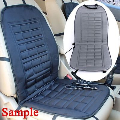 12V Car Front Seat Hot Cover Heater Heated Pad Cushion Warmer Winter Grey US
