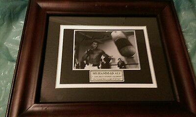 Muhammad Ali Signed Autographed Picture  Workout Photo heavy weight champ LOA