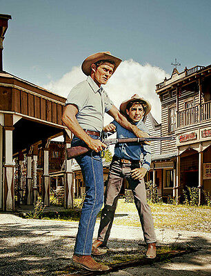 Chuck Connors, Johnny Crawford - 8 1/2 X11
