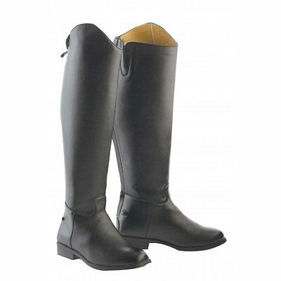 Saxon Equileather Tall Boot PLAIN/DRESS Show/ Dressage Horse Riding Boots Zip