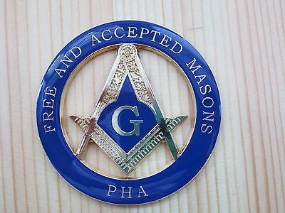 Masonic Car Badge Emblems E2 FREE AND ACCEPTED MASONS PHA