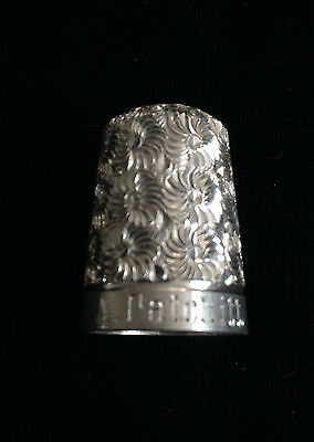 Vintage Fully Hallmarked Solid Silver Sewing Thimble (4)