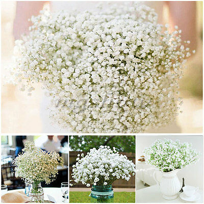 10pcs Artificial Silk Flower Gypsophila Bridal Floral Bouquet Wedding Home Decor