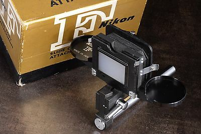 Vintage! Minty! 1960's Complete Boxed Nikon F Slide Copy Attachment Bellows Type