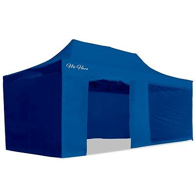 Carpa plegable jardín 3x6 color azul Mchaus carpa para eventos fiestas 3x6