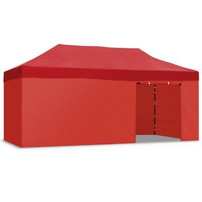 Carpa plegable jardín 3x6 color rojo Mchaus carpa para eventos fiestas 3x6