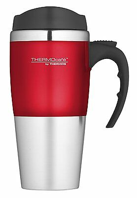 THERMOS Voyager TRAVEL MUG 420ml RED Non-Spill Insulated Tea Coffee Thermal Cup