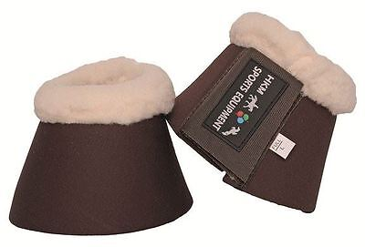 HKM Comfort Padded Over-Reach Bell Boots Anti-Rub Fleece Collar Sizes Pony-XFull