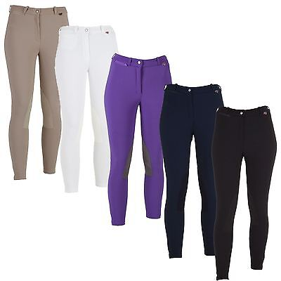 Red Horse Junior Girls Kelly Leather Knee Patch Ankle Riding Breeches