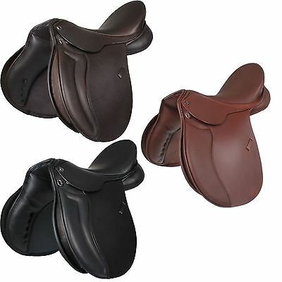 Horka Equestrian Picasso Leather Grip Comfort Seat Multipurpose Riding Saddle