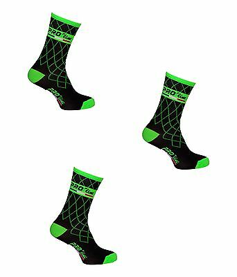 Kit Combo 3 Paia Calzini Ciclismo Proline Teamverfl Cycling Socks One Size 39/46