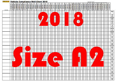 2017 Folded A2 Vehicle Routine Maintenance Planner bus hgv lorry Inspection Pmi