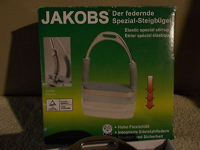 Jakobs Coil Spring Stirrup Irons Stainless Steel New in Box