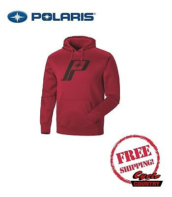 Polaris Men's Retro Logo Hoodie Sweat Shirt Red Rzr Rmk Sks Ace Indy Sportsman