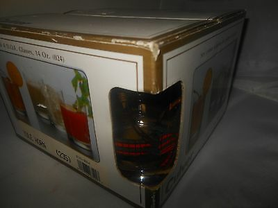 CULVER 22k Gold, 6 glass set,Spruce Christmas Tree Yule Horn Old Fashion GLASSES