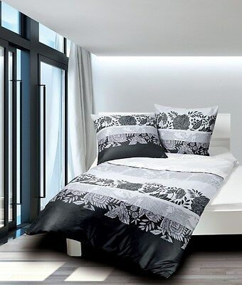 janine moments mako satin bettw sche 155x220 cm schwarz. Black Bedroom Furniture Sets. Home Design Ideas