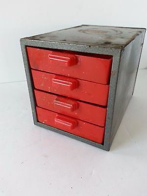 Dunlop Vintage Metal Industrial Small Toolbox Storage Chest Drawers Home Decor