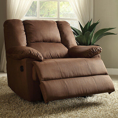 Terrific Oversized Recliner Glider Large Boy On Sale Brown Fabric Gmtry Best Dining Table And Chair Ideas Images Gmtryco