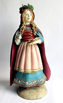 Collectible Figurine of St. Lucia Duncan Royale History Of Santa II Limited Edit