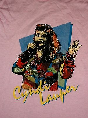 VTG 1980s Cyndi Lauper Concert Tour T-Shirt Cindy Sz M OLD DEAD STOCK NEVER WORN
