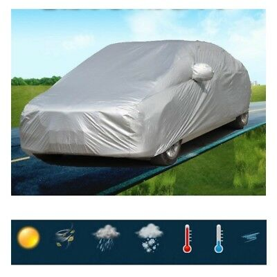 M / L / XL / XXL Size Universal UV Waterproof Outdoor Full Car Auto Cover Silver