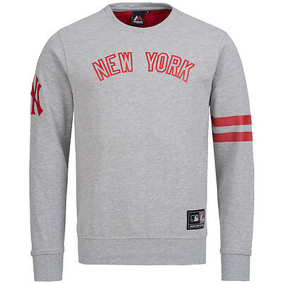 new York Yankees MLB Benedict Crew Jumper Sweatshirt Majestic Men's Sweat new