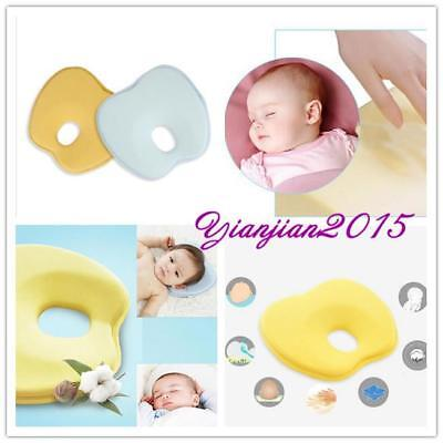 Baby Pillow Memory Sponge Prevent Flat Head Anti Roll Support Necklace Cushion J