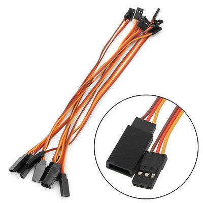 10Pcs 200mm Servo Lead Wire Extension Cable For RC Futaba JR Male to Female 20cm