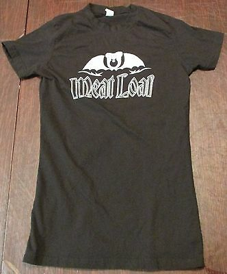 2011 Meat Loaf Hang Cool Tour Womens Long Black T-Shirt, Tulex, Medium Used-Vg