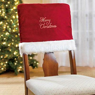 Merry Christmas Dinner Banquet Chair Back Cover Xmas Holiday Party Decor