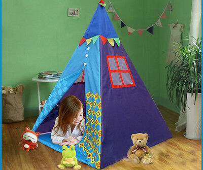 Kids Princess Childrens Teepee Castle Play Tent Garden Home Playhouse Outdoor