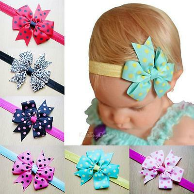 10PCS Newborn Baby Girls Headband Infant Toddler Bow Hair Band Accessories Photo
