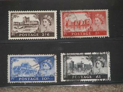 Great Britain, Windsor Castles-Scott# 309-312 Used, (309 MNH)