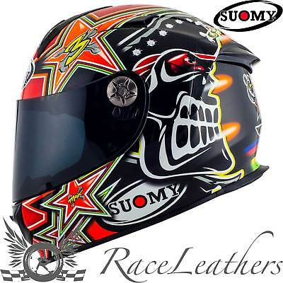 Suomy Sr Sport Biaggi Replica Red Full Face Motorcycle Motorbike Helmet