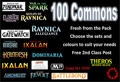 MTG Magic the Gathering 100 Commons Choose your set / colour Bulk Mint Job Lot