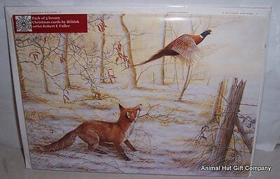 Fox and Pheasant christmas cards pack 5