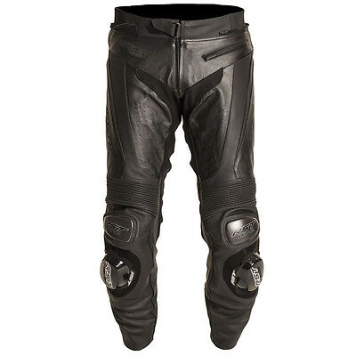 RST Black Series Leather Motorcycle Motorbike Jeans Pants Trousers