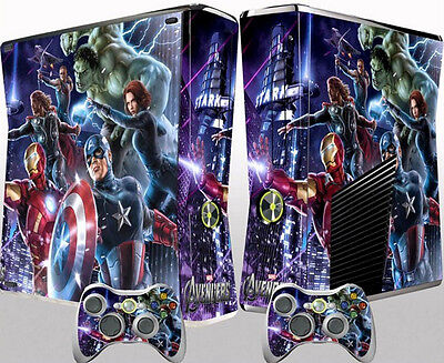 Hot Avengers Sticker Cover Skin Decal For Xbox 360 Slim Console Controller