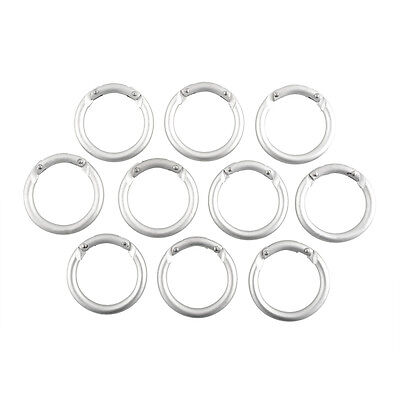 10x Mini Circle Round Carabiner Spring Clip Hook Keychain Climbing Useful