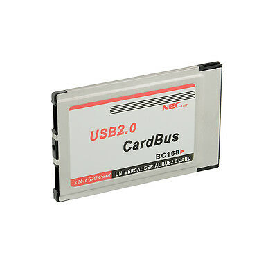 PCMCIA to USB2.0 NEC Chip CardBus Dual 480M Express Card for Laptop PC Notebook