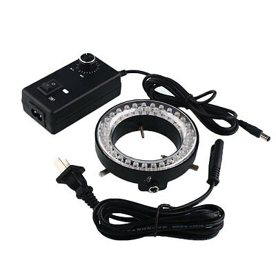 60-LED Adjustable Ring Light Illuminator Lamp For ZOOM Microscope Heavy-duty