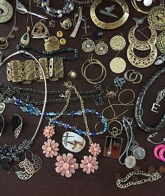 6 Lbs Lot vintage to now jewelry wear some repair craft