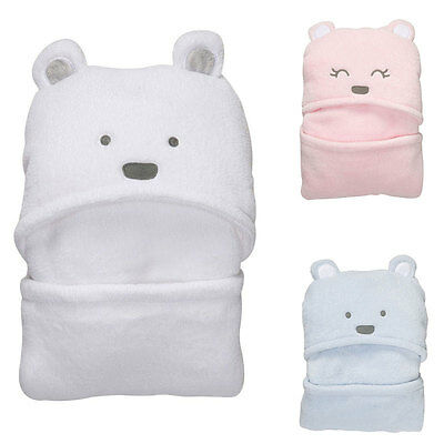 Lovely Bear shaped Baby Hooded Bathrobe Soft Infant Newborn Bath Towel Wrap